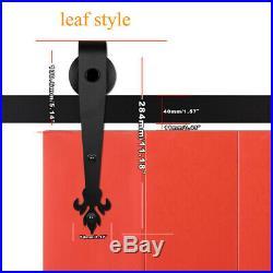 4-20FT Leaf Sliding Barn Door Hardware Closet Track Kit, Single/Double/Bypass