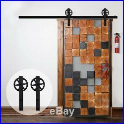 4-20FT Rustic Sliding Barn Door Hardware Closet Track Kit, Single/Double/Bypass