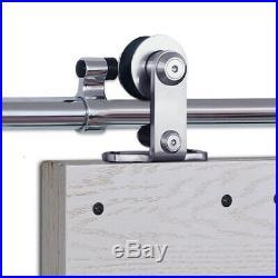 4-20FT Rustic Sliding Barn Door Hardware Closet Track Kit for Single/Double Door