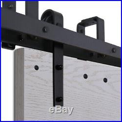 4-20FT Sliding Barn Door Hardware Closet Track Kit, Bypass Double/Four Doors
