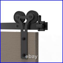 4-20FT Sliding Barn Door Hardware Closet Track Kit Single/Double/Bypass 2 Doors