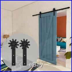 4-20FT Sliding Barn Door Hardware Track Closet Kit Single/Double, Wheels Spin