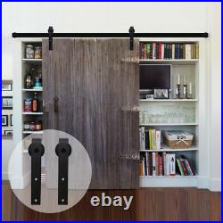 4-20FT Sliding Barn Door Hardware Track Kit for Single/Double/Bypass Wood Doors