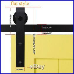 4-20FT Sliding Barn Door Hardware Track for Wood Single/Double/Bypass Doors J