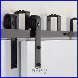 4-20FT Sliding Barn Door Rails Bypass Double Door Hardware Kit for Interior Door