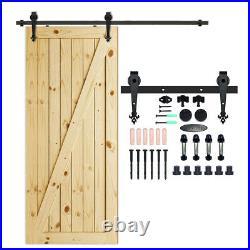 4-20FT Sliding Barn Wood Door Hardware Track Hanger Kit For Single/Double/Bypass