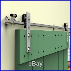 4-20FT Stainless Steel Sliding Barn Door Hardware Single/Double Colset Rail Kit