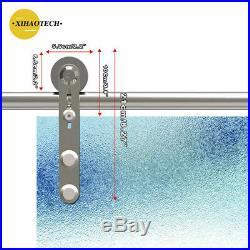 4-20FT Stainless Steel Sliding Barn Hardware For Glass/Wood Door, Single/Double