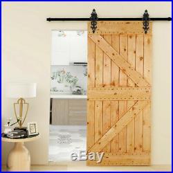 4-20FT Vintage Sliding Barn Door Hardware Closet Track Kit, Single/Double Doors
