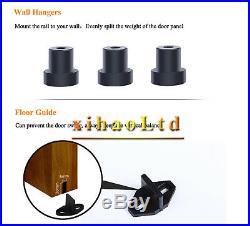 4-20FT Vintage Sliding Barn Wood Door Hardware Big Spoke Wheel Rollers Track Kit