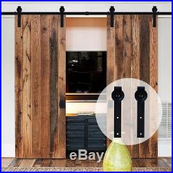 4-20FT Wood Sliding Barn Door Hardware Closet Kit for One/Two/Bypass Two Doors