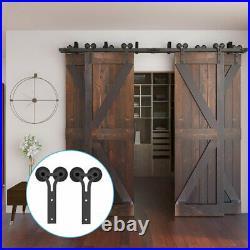 4-20FT Y Sliding Barn Door Hardware Track Kit for Single/Double/Bypass 2/4 Doors