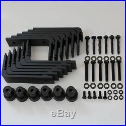 4-20 FT Wood Sliding Barn Door Hardware Kit Rollers Track for Bypass Double Door