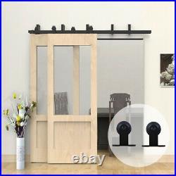 4-20 Sliding Wood Barn Door Hardware Track Kit Antique Single/Double/Bypass Door