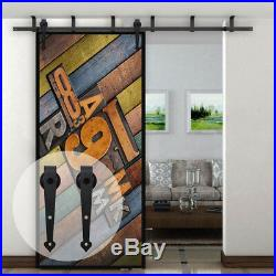 4-20ft Wood Sliding Barn Door Hardware Closet Kit for Single/Double/Bypass Doors