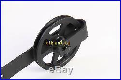 4-24FT Strap Big Spoke Wheel Sliding Barn Door Hardware Track Kit Single/Double