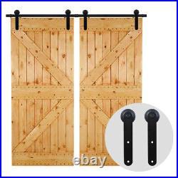 4/5/6/6.6/8/10/12FT Track Sliding Barn Door Hardware Kit for Single/Double Door