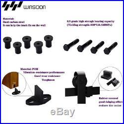 4/5/6/8/10/11/12/13/14//17FT Arrow Single Sliding Barn Door Hardware Kit Closet