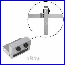 4-8FTRustic Interior Stainless Steel Sliding Barn Door Hardware Track Roller kit