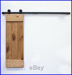 4-8.2FT Aero Steel Top Mount American Barn Wood Sliding Door Hardware Track Set