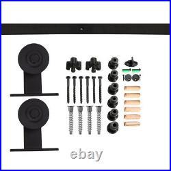 4ft 20ft Rustic T Sliding Barn Door Hardware Track Kit for Single/Double/Bypass