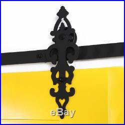 4ft-20ft Sliding Barn Door Hardware Closet Track Roller Kit for One/Two Doors