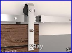 5FT-16FT Stainless Steel Sliding Barn Door Hardware Track Kit Modern Interior