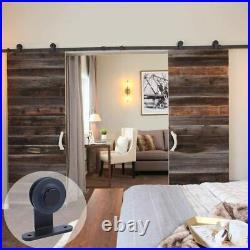 5FT-20FT Sliding Barn Door Hardware Kit Track Roller Closet Rail for Double Door