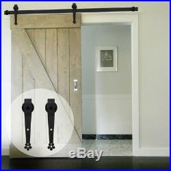 5FT-8FT Rustic Sliding Barn Door Hardware Closet Track Kit Single/Double Doors