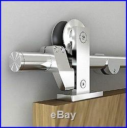 5FT Easy install top mount stainless steel sliding barn door hardware track kit