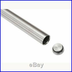 5-13FT Contemporary Single Sliding Barn Door Hardware Track Kit Stainless Steel