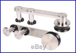5-13ft Modern Interior Stainless Steel Wood Satin Sliding Barn Door Hardware Kit