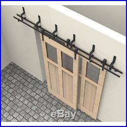 5-16FT Arrow Bypassing Sliding Barn Door Hardware Track Closet Kit interior Set