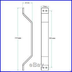 5-16FT Arrow Sliding Barn Single Double Door Hardware Track Kit Rail Heavy Duty