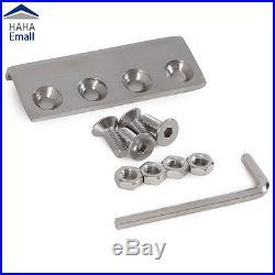 5-16FT Modern Stainless Steel 304 Sliding Barn Door Hardware Track Kit Cupboard