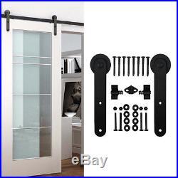 5-16FT Single Sliding Barn Door Hardware Kit i Style Straight Indoor Outdoor new