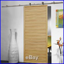 5-16FT Sliding Barn Door Hardware Closet Track Kit For Single & Double Door LOTQ