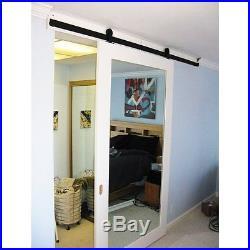 5-16FT Sliding Barn Door Hardware kit Closet Top Mount Indoor Outdoor Interior