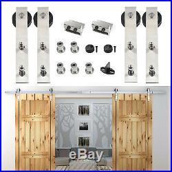 5.5FT Modern Stainless Steel 304 Sliding Barn Door Hardware Track Kit Cupboard