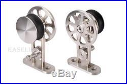5/6/6.6/8/10FT Modern Rolling Stainless Steel Sliding Barn Door Hardware Kit