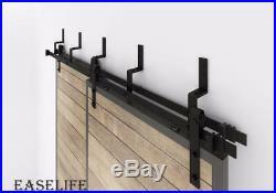 5/6/6.6/8/10/12FTVintage Bypass Industrial Sliding Double Barn Door Hardware Kit
