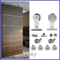 5/6/8/10/12/13/15/16FT Modern Rustic Stainless Steel Sliding Barn Door Hardware