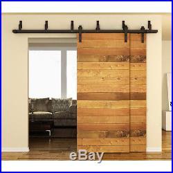 5/6/8/10 FT By pass Sliding Barn Door Hardware Kit J Style Closet Interior Rail