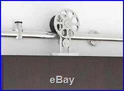 5/6/8/12/10FT Stainless Steel Sliding Barn Door Hardware Tube Set Brushed Nickel