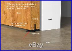 5-8'Soft closing Sliding barn wood door hardware rustic black barn sliding track