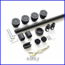 5ft / 6.6ft Black sliding glass shower door track barn shower door hardware kit