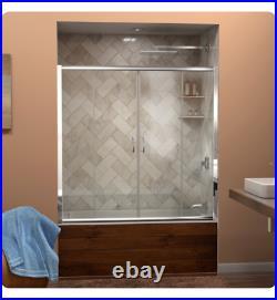 60 x 58 Dreamline Shower Screen Brushed Nickel Vision Sliding Tub Door