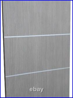 60 x 80 Sliding Closet Bypass Doors with hardware Planum 0020 Grey Oak
