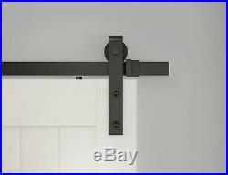 6FT10FT Black rustic sliding barn door hardware straight roller sliding track
