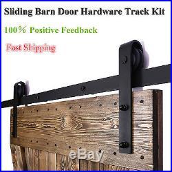 6-12FT Modern Sliding Barn Wood Door Closet Hardware Track Kit Single&Double